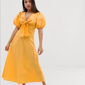Asos Y.a.s ball sleeve bow maxi dress